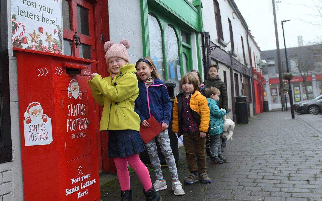 Santa's Post Box Delights Children from Hacketstown